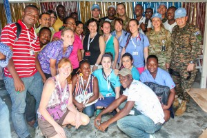 Our team with the members of the Chilean peacekeeping force.