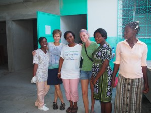 Working with the nurses on the cervical cancer screening program.