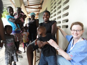 Dr. Jill Ratner, HUFH President and Trip Leader, at Clinic