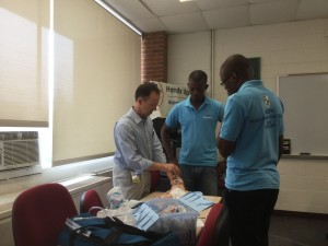 Dr. Rick Stafford Teaching Neonatal Resuscitation Skills