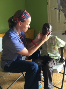 Volunteer Physician Dr. Carol Ann Killian at clinic.