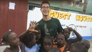 Volunteer & EMT Joe Israeli With Some Local Children