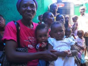Families at Shada Clinic