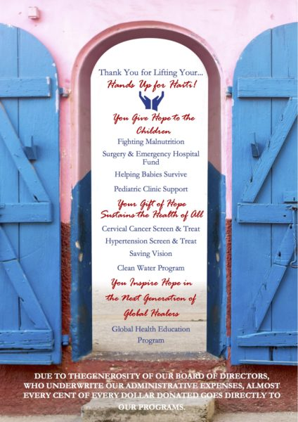 Please join us and consider a gift that will go directly to our many programs for improving the health for our Haitian friends especially the children. & HUFHu0027s Holiday Campaign: Open the Doors to Hope! - Hands Up for Haiti pezcame.com