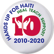 Hands up for Haiti 10 year logo