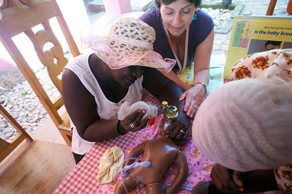 Helping Babies Breathe class at Bode me Limbe